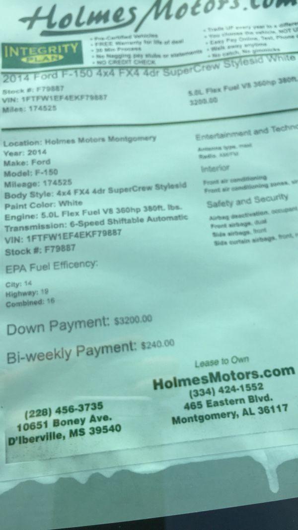2014 f150 fx4 4x4 crew cab 3200 down no credit check buy here pay here no credit check. Black Bedroom Furniture Sets. Home Design Ideas