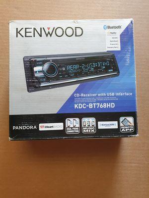 Photo KENWOOD KDC-BT768HD CD MP3 CAR STEREO EQ IPHONE USB AUX BLUETOOTH HD RADIO NEW