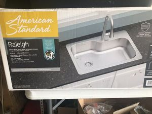 Photo American Standard Raleigh Single Bowl Kitchen Sink New