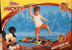 Photo Disney Junior Mickey Mouse Interactive Electric Piano Music Mat Children's Toy (New in Box)