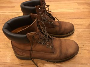 Brown Timberland Boots 10.5 High Top Suede Shoes for Sale in Chicago, IL