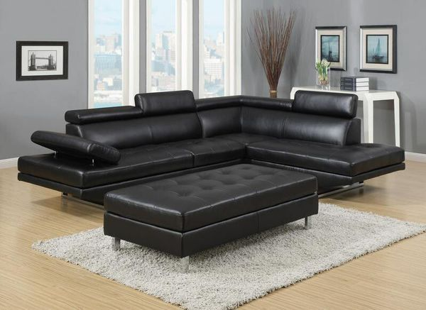 New Ibiza White Black Sectional Sofa And Ottoman Set Only 699 No Credit Check Financing Furniture In Tampa Fl Offerup