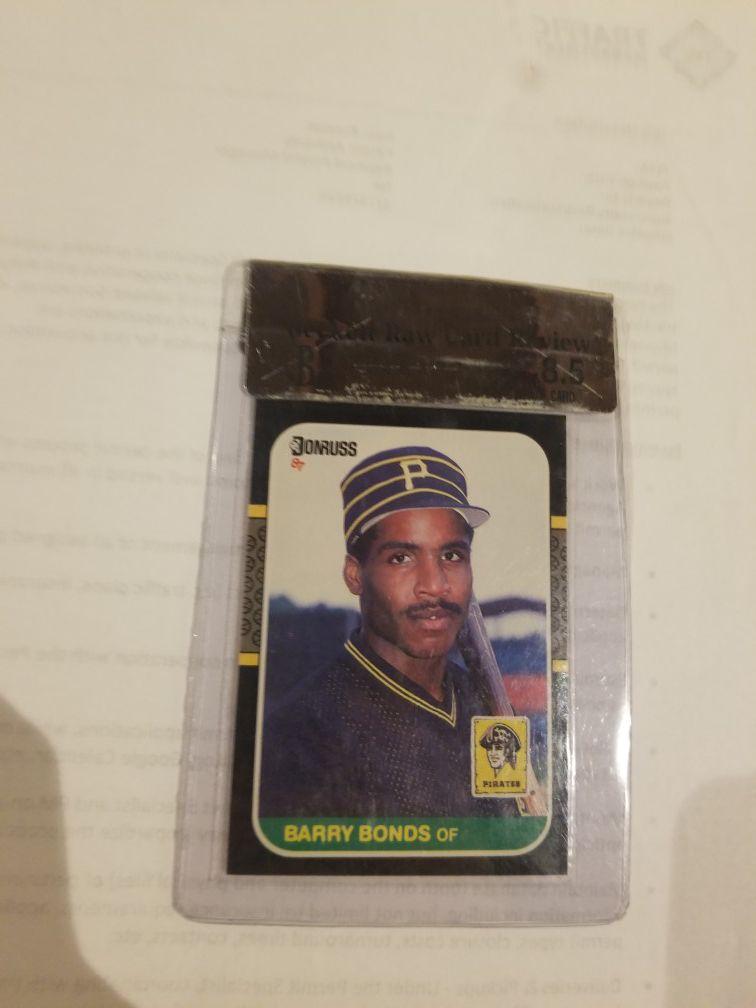 Barry bonds rookie card 8.5 grade