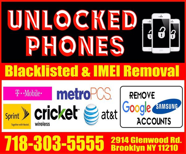 Unlock any remove BLACKLIST     samsung iPhone , sprint ,Tmobile ,AT&T for  Sale in Brooklyn, NY - OfferUp