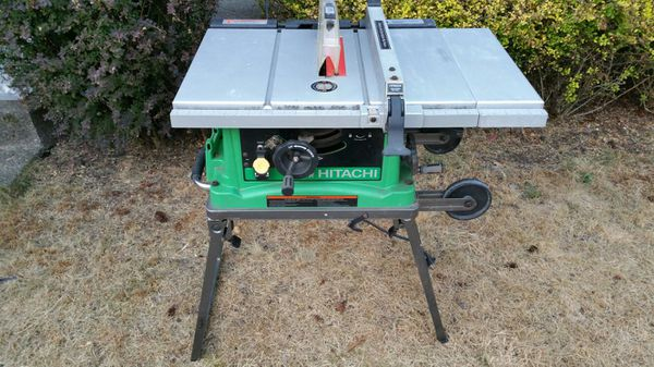 Hitachi C10fr Jobsite Table Saw W Stand For Sale In Maple
