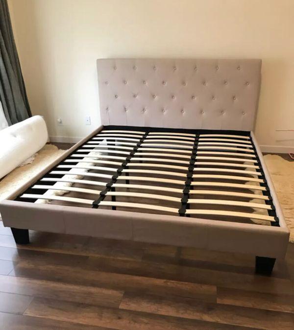 New Platform Bed Frame   Twin Full Queen King Cal King   Mattress