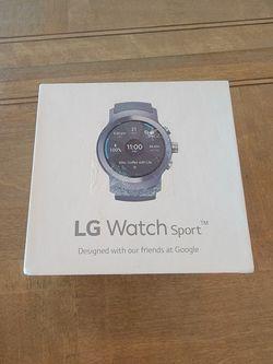 LG Watch Sport W280A 45.4mm Titanium Stainless Steel Case Black Classic Thumbnail