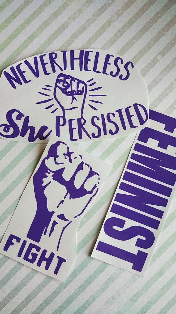Feminist purple decals arts crafts in modesto ca offerup