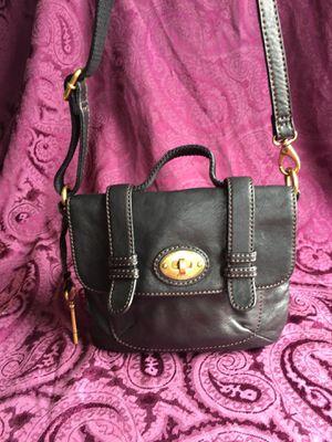 Fossil Black Lamb Leather Crossbody / Messenger Bag, NWOT for Sale in Washington, DC