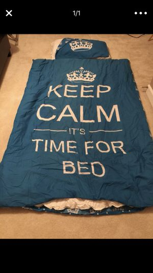 Duvet cover and pillow case twin bed for Sale in Alexandria, VA