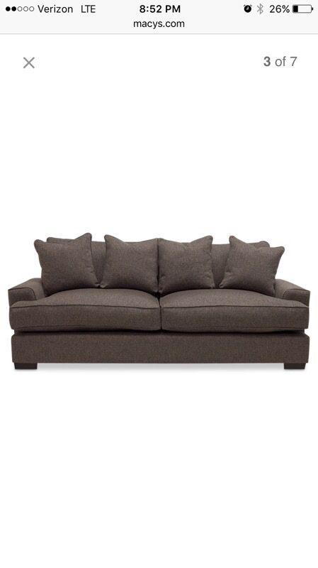 Brand New Ainsley Fabric Sofa W 4 Toss Pillows
