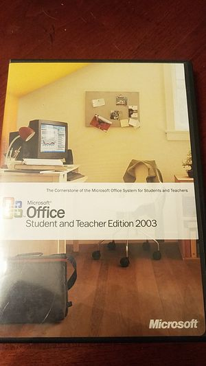 Microsoft office student and teacher edition 2003 for Sale in Port Richey, FL