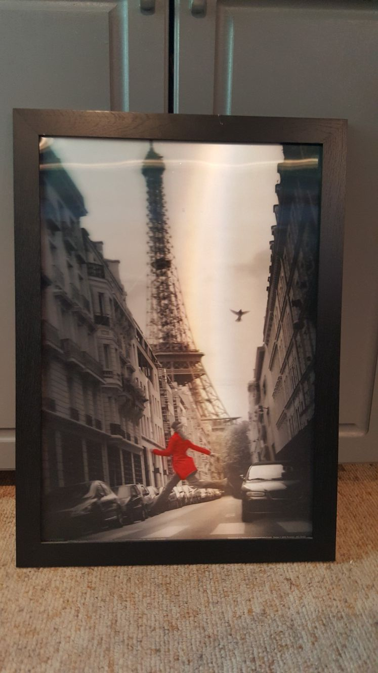 Woman in Red 3D Wall Art