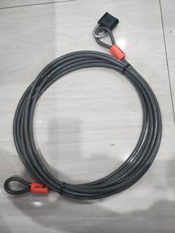 Security cable w/máster lock. 30 feet Thumbnail