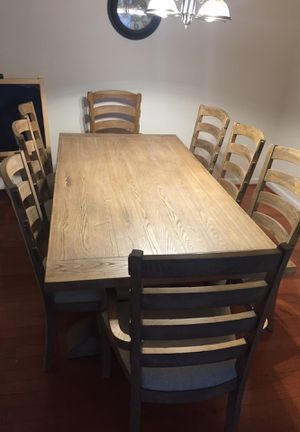 Solid wood 8 chairs Dining table for Sale in Centreville, VA