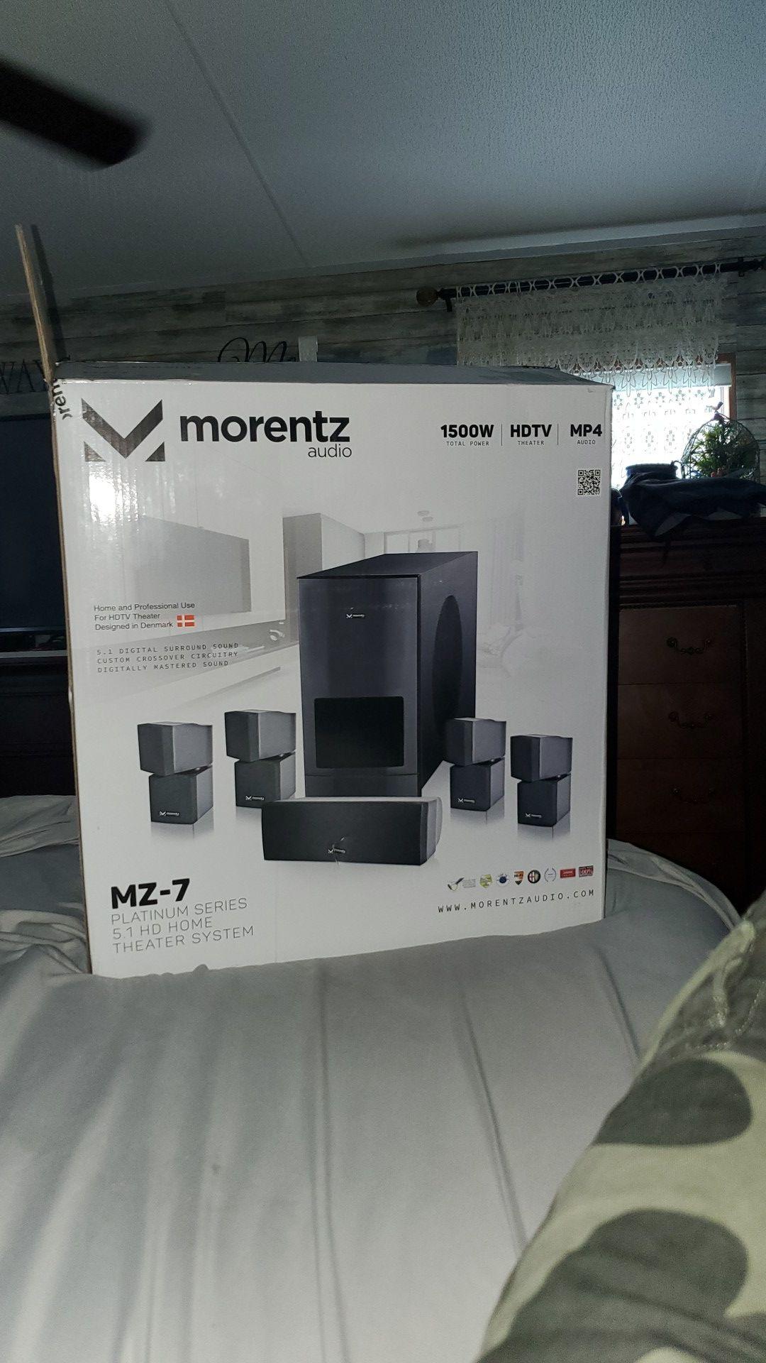 Morentz audio platinum series home theater system