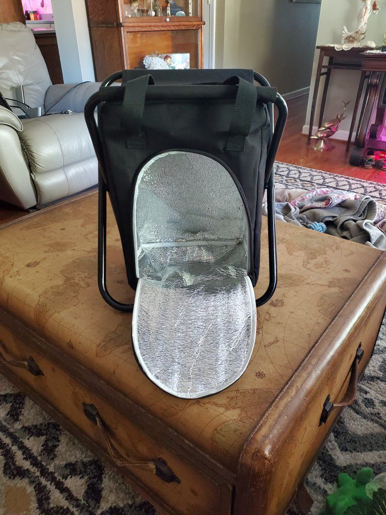 Folding Stool Cooler With Handles