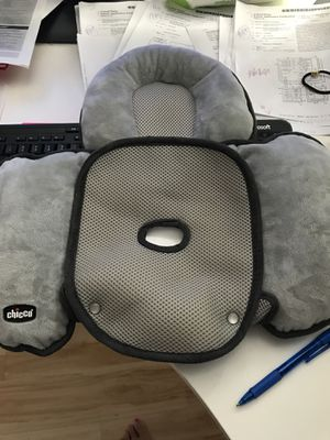 Chicco Infant Head Body Support Pillow Car Seat & Seat Protector Stroller Cushion – Gray for Sale in Gaithersburg, MD