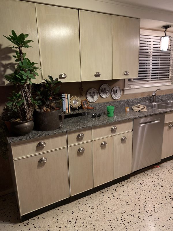 1958 Mid Century Metal Kitchen cabinets and Imperial Dual Oven