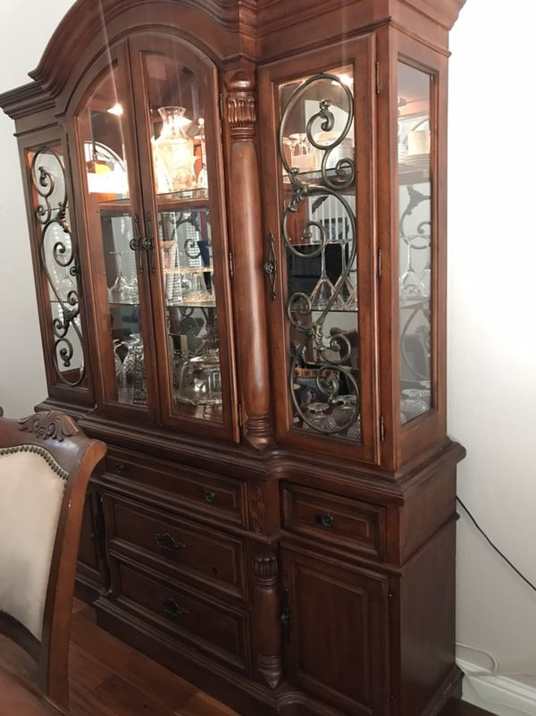 Antique Cherry China Cabinet - Antique Cherry China Cabinet For Sale In Roseville, CA - OfferUp