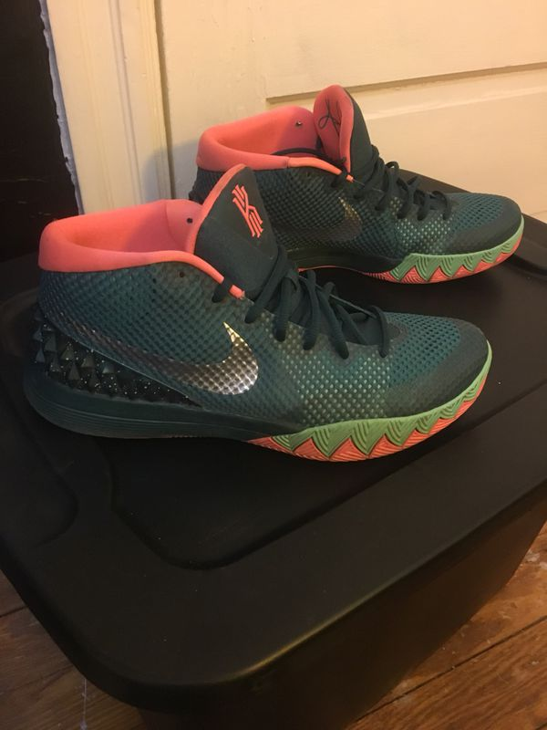 "7d49b423da9 Nike Kyrie 1 ""Flytrap"" Dark Emerald and Mango Size 12 for Sale in ..."