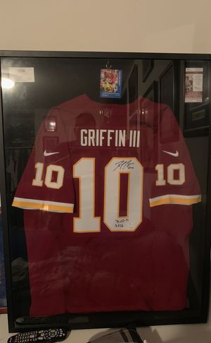 RG3 Framed Authentic Jersey Signed for Sale in Fairfax, VA