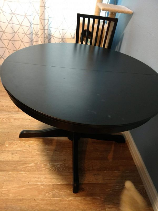 Black Expandable kitchen table with 4 chairs for Sale in Auburn, WA -  OfferUp