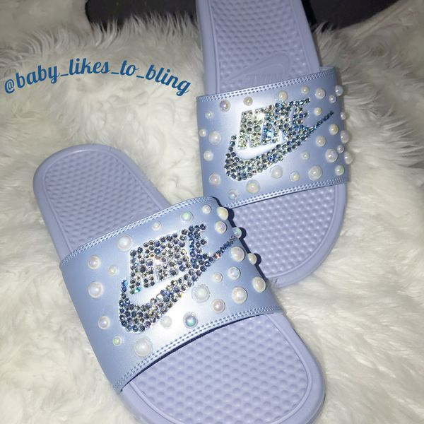 726babb70 Nike Bling % 100 Swarovski Slides for Sale in Cheektowaga