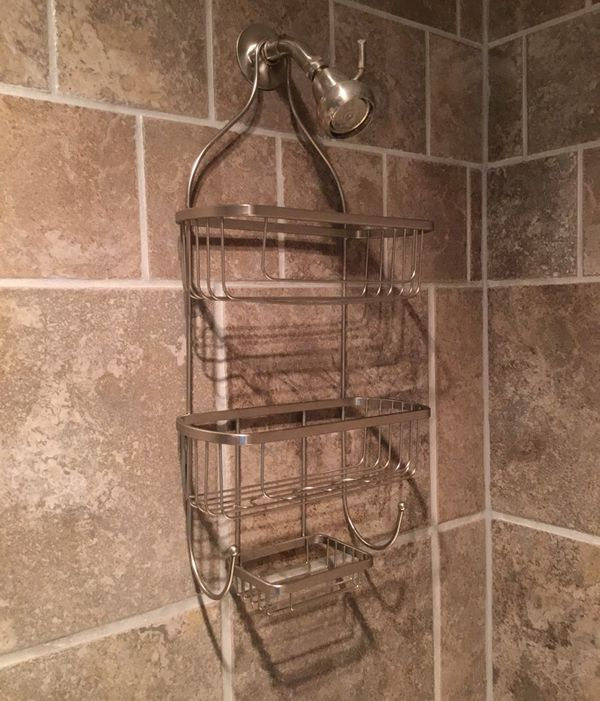 Brushed Nickel Shower Caddy for Sale in Euclid, OH - OfferUp