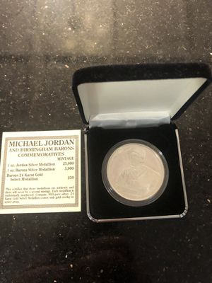 Photo Limited addition 1994 Michael Jordan Barrons Silver Coin