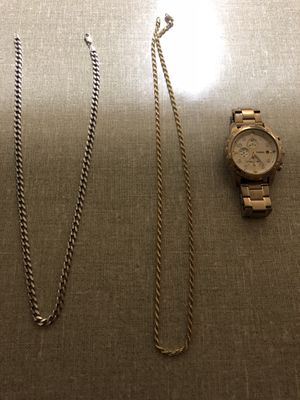 2 chains and watch for Sale in Fairfax Station, VA
