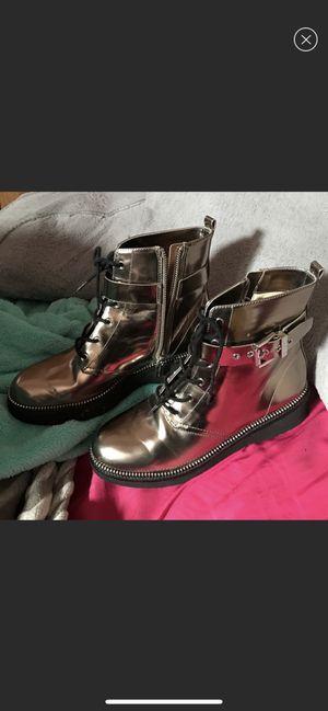 Michael Kors silver metallic boots for Sale in Philadelphia, PA