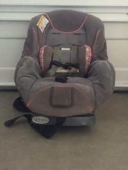 Graco - gray and pink baby/ toddler car seat Thumbnail