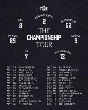 TDE CHAMPIONSHIP TOUR TICKET for Sale in Atlanta, GA