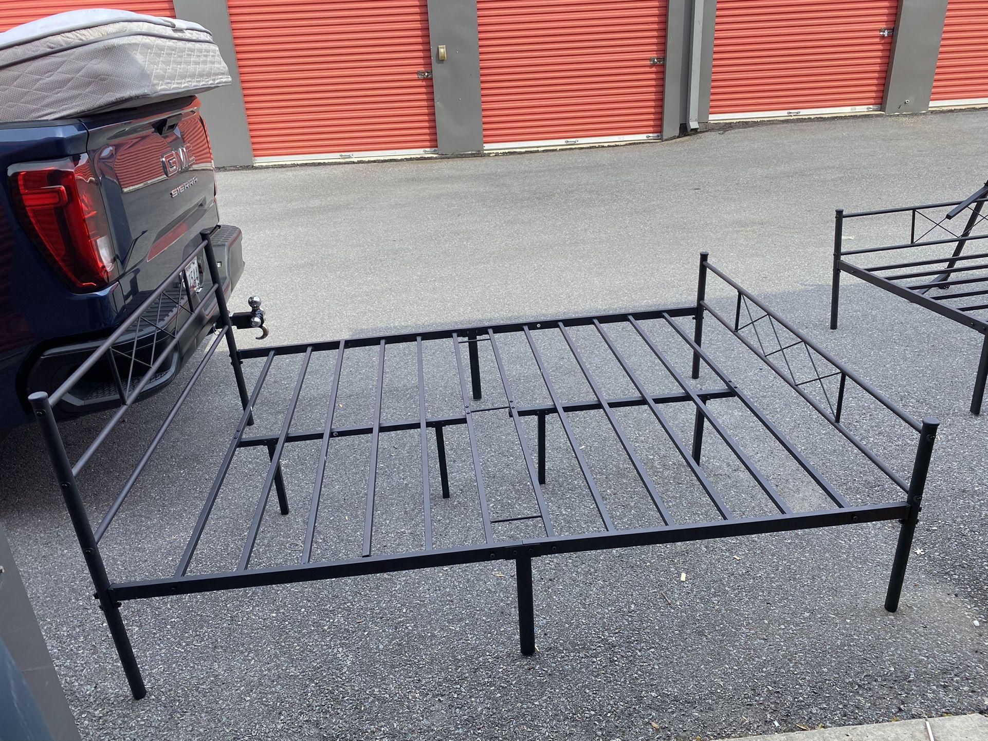 Queen Metal Bed And Mattress