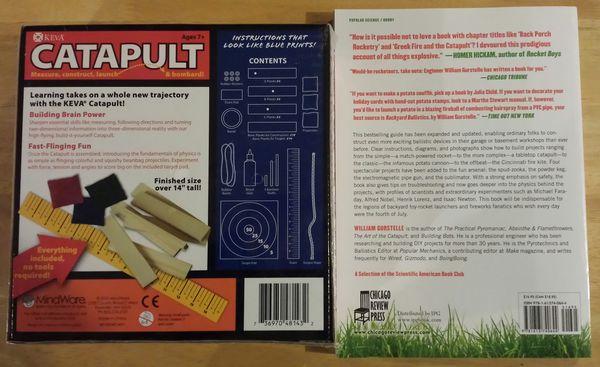 Backyard Ballistics Book catapult building kit & backyard ballistics book for sale in