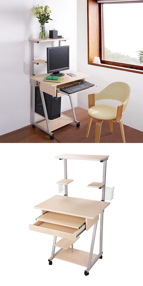 New 50 Mobile Computer Desk Tower Printer Shelf Laptop Rolling Table Study Home Office For In Whittier Ca Offerup