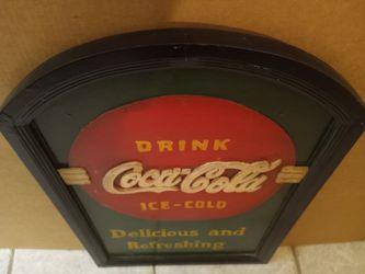 Unique Wooden Coca Cola Sign OBO  Thumbnail