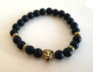 ** NATURAL STONE - Onyx Lion Bracelet (Remove negative energy, calm emotions, healing) Gift for Sale in Rancho Cucamonga, CA