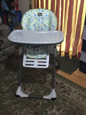 High chair and 2 kids shoes for Sale in Columbia, MD