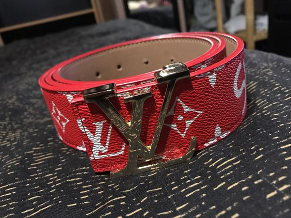 Louis Vuitton X Supreme Collab Limited Edition Belt For In Los Angeles Ca Offerup