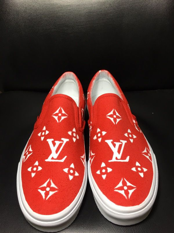 e0fef08b39 Custom LV x Supreme Vans for Sale in Burke