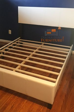 Brand New Queen Size Leather Platform Bed Frame for Sale in Silver Spring, MD