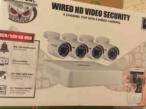 Night Owl 4 Channel DVR with 4 Wired Cameras New In Box for Sale in Bon Air, VA