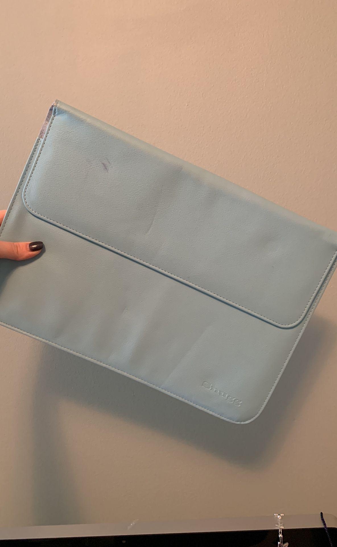 Blue Laptop Case w/ Flap