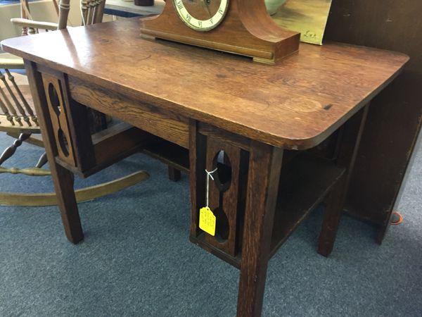 Antique Mission Oak Desk Table c1920's/30's for Sale in Plant City, FL -  OfferUp - Antique Mission Oak Desk Table C1920's/30's For Sale In Plant City