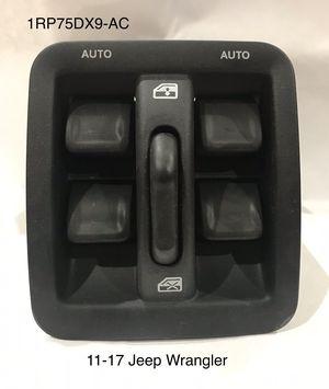 Photo 11-17 Jeep Wrangler Driver Side Power Window Switch/Bezel