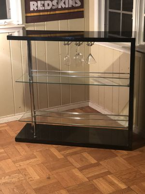 Black Acrylic Bar with Glass shelves for Sale in Rockville, MD