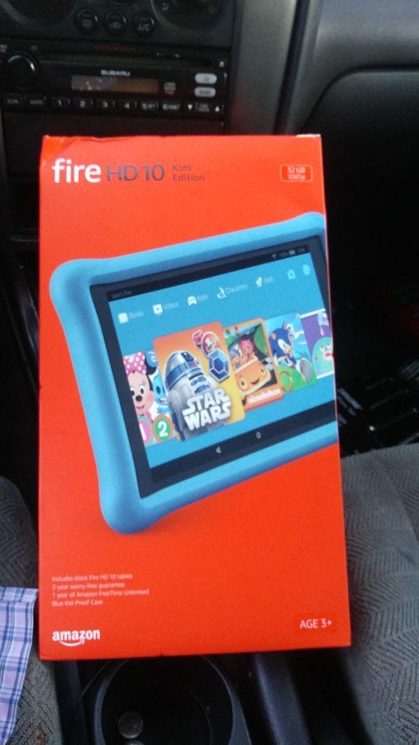 Amazon fire hd10 ( kids edition) tablet for Sale in San Bernardino, CA -  OfferUp