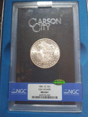 1881cc morgan ms64+ cac gsa ngc $650 for Sale in Jonestown, TX